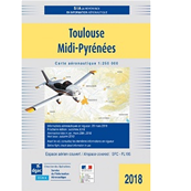 VFR chart for Toulouse Occitanie area 2021