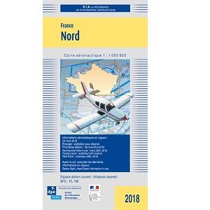 Carte aéronautique VFR du Nord de la France SIA - Pilotshop