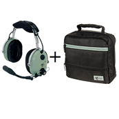 Casque avion H10-60 + sacoche offerte