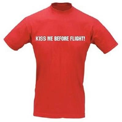 T-shirt KISS ME BEFORE FLIGHT - Homme