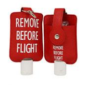 Key chain Remove Before Flight with desinfection gel 50 ml